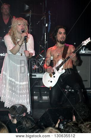 Courtney Love and Dave Navarro during 'Camp Freddy' Tsunami Relief Benefit Concert held at the Key Club Sunset Strip in West Hollywood, USA on January 27, 2005.