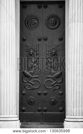 Bank of England door, London Metal art work