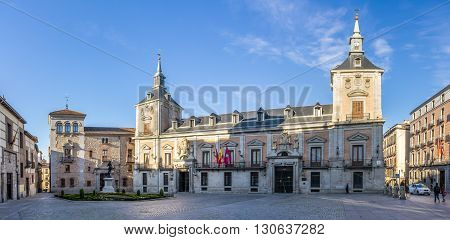 MADRID,SPAIN - APRIL 25,2016 - Building City of Madrid at the Villa Place in Madrid. Madrid is capital of Spain.