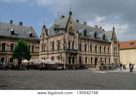 Prague, Czech Republic - May 7, 2012: Palace near St.George's Basilica in Prague Castle