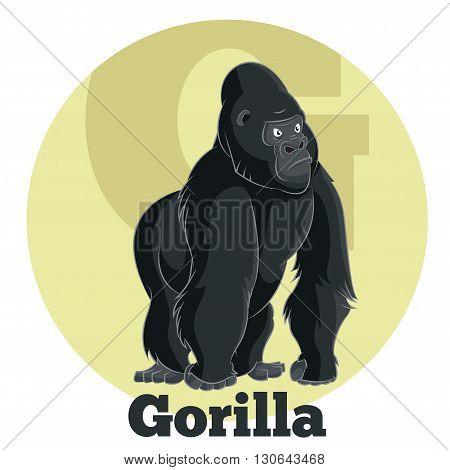 Vector image of the ABC Cartoon Gorilla