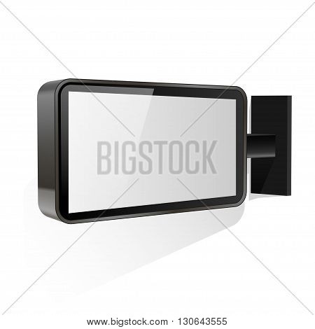 Blank Lightbox isolated on a white background.  vector illustration.