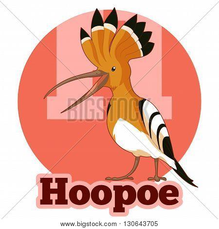 Vector image of the ABC Cartoon Hoopoe