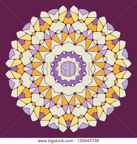 Bright abstract pattern mandala. Vector design template for art.