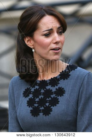 LONDON, UK - OCTOBER 27, 2015: Catherine Duchess of Cambridge attends the Chance UK charity at Islington Town Hall in London