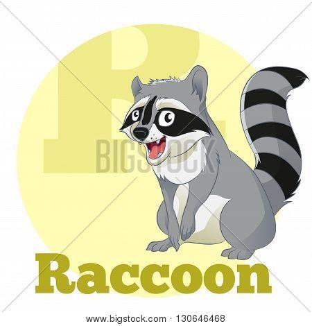 Vector image of the ABC Cartoon Raccoon