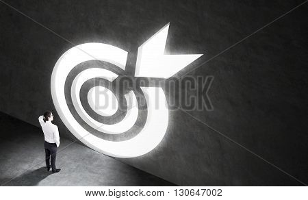 Targeting Concept With Businessman