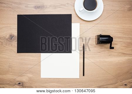 Sharpener, Coffee And Paper