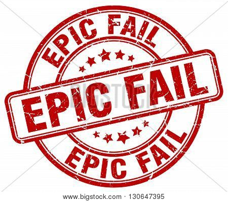 epic fail red grunge round vintage rubber stamp