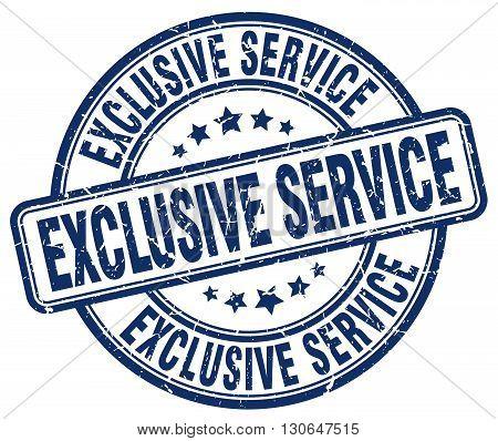 exclusive service blue grunge round vintage rubber stamp