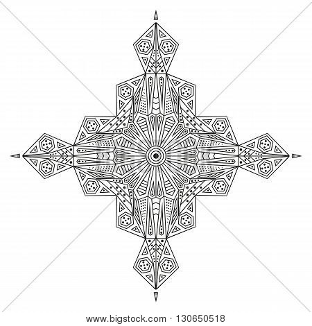 Black and white ethnic pattern. Element for design
