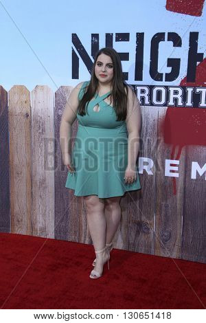 LOS ANGELES - MAY 20:  Beanie Feldstein at the Neighbors 2: Sorority Rising American Premiere at Village Theater on May 20, 2016 in Westwood, CA
