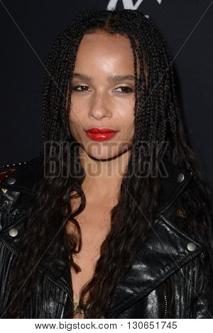 LOS ANGELES - MAY 19:  Zoe Kravitz at the Zoe Kravitz Celebrates Her New Role With Yves Saint Laurent Beauty at Gibson Brands Sunset on May 19, 2016 in West Hollywood, CA