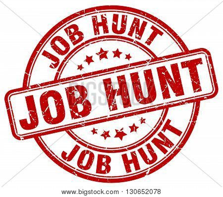 job hunt red grunge round vintage rubber stamp