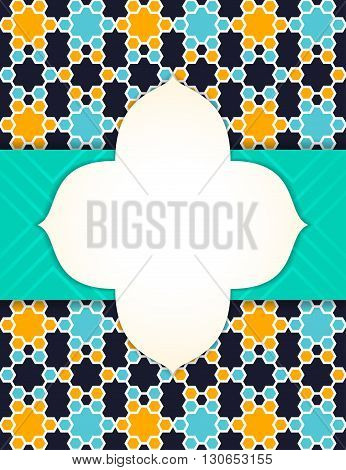 Arabian style eastern abstract vector background design