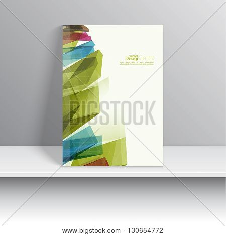 Magazine Cover with colored crystals, trellis structure. For book, brochure, flyer, poster, booklet, leaflet, postcard, business card, annual report. abstract background. vector