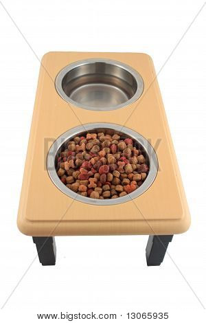 Bowls Of Dogfood And Water