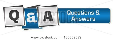 Q And A text written over blue grey background.