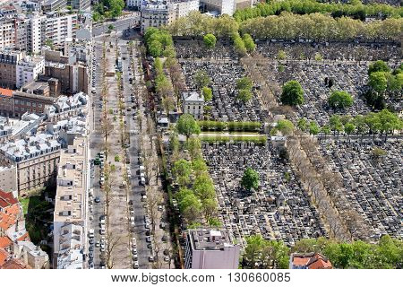 Paris Building City View Aerial Landscape From Montparnasse