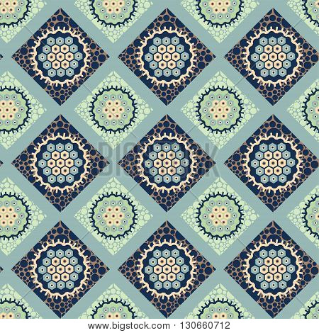 decorative ornament seamless pattern of colorful lozenges