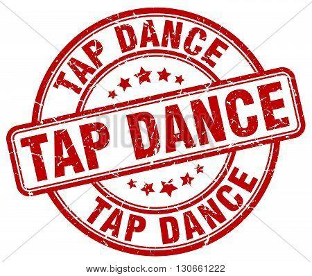 tap dance red grunge round vintage rubber stamp