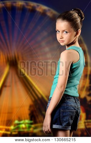 Girl In The Amusement Park