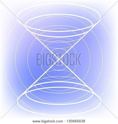 Sacred geometry symbol on colorful mesh background. Alchemy, religion, philosophy, astrology and spirituality themes. Matter, space and time. Science in Universe