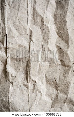 Close up old wrinkled paper textured and background