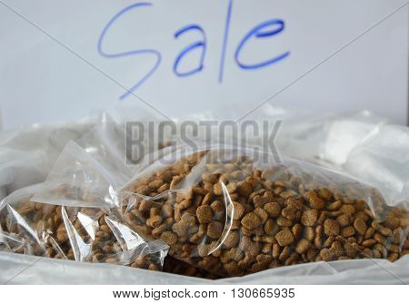 dog food plastic bag packing for sale in pet shop