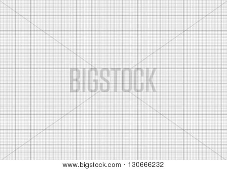 Gray color graph paper on horizontal a4 sheet size