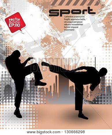 Martial art, sport background, karate