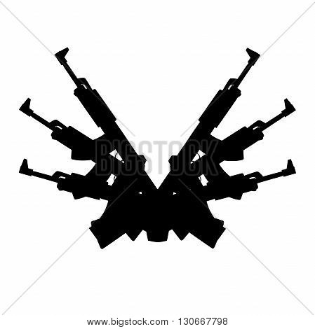 This is an illustration of automatic gun background element