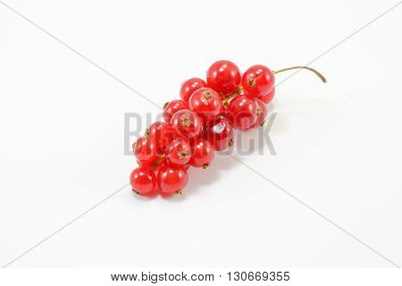 Red Current Berry Fruit bunch small colorful on white background