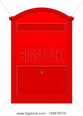 Mailbox on a white background. Vector illustration.
