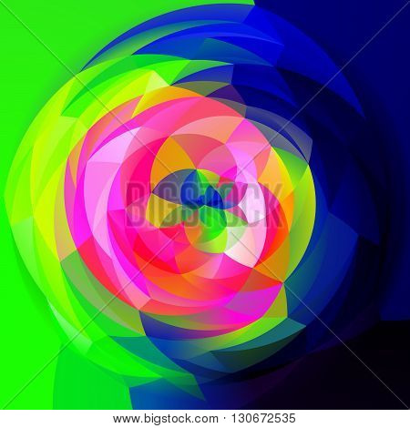 abstract modern artistic rounded shapes background - full color spectrum infra colors
