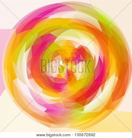 abstract modern artistic rounded shapes background - spring full color spectrum rainbow