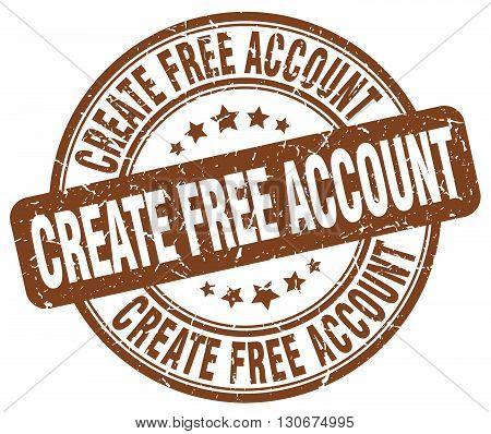create free account brown grunge round vintage rubber stamp