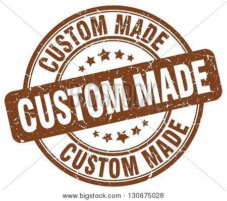 custom made brown grunge round vintage rubber stamp
