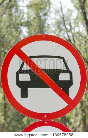 No car or no parking traffic sign