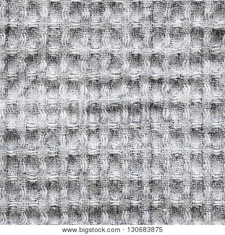 Closeup of gray checkered fabric for background