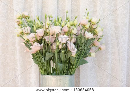 flower bouquets , bunch of Lisianthus flowers