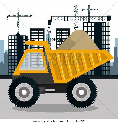 construction machinery design, vector illustration eps10 graphic