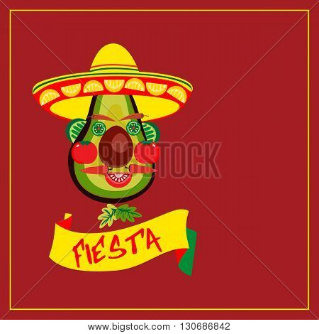 Mexican Fiesta party. Mexican Holiday poster card invitation promotion. Cinco de mayo. Idea to advertise fiesta party decoration food menu background. Vector illustration