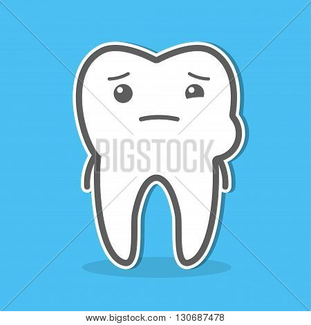 Tooth and toothache concept. Dental vector illustration