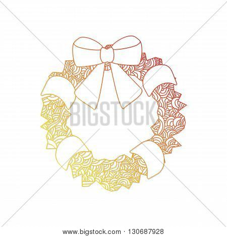 rwreath. Christmas collection. Christmas collection. Doodle stylized vector illustration.