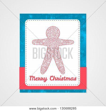 Toys on christmas tree - cookie. Christmas collection. Christmas collection. Doodle stylized vector illustration.