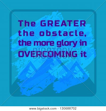 Inspirational Motivated Quote. Mountains. Motivational Banner with Quotes Concept. Achievement target Concept. Motivation to overcome for win future victory. Vector Illustration