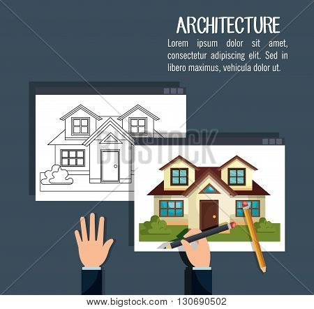 instruments architecture design, vector illustration eps10 graphic