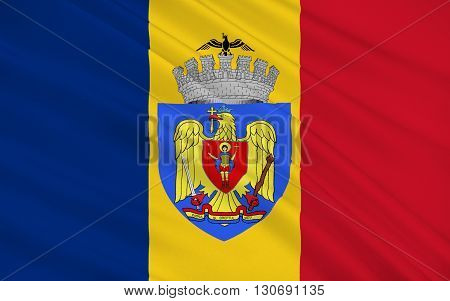 Flag of Bucharest is the capital and largest city of Romania