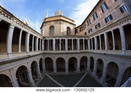 Cloister of Bramante - Wide Angle Version Rome Italy